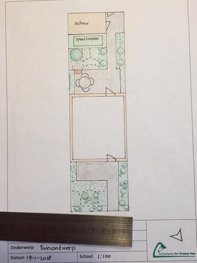 Recent ontwerp tuin en beplantingsplan